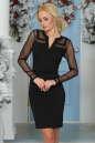 Повседневное платье футляр черного цвета 2456.47|интернет-магазин vvlen.com