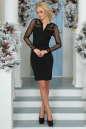 Повседневное платье футляр черного цвета No1|интернет-магазин vvlen.com