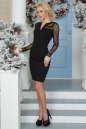 Повседневное платье футляр черного цвета No2|интернет-магазин vvlen.com