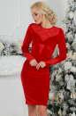 Коктейльное платье футляр красного цвета 2457.26|интернет-магазин vvlen.com