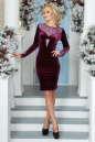 Коктейльное платье футляр сиреневого с черным цвета 2457.26 No1|интернет-магазин vvlen.com