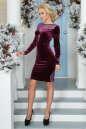Коктейльное платье футляр сиреневого с черным цвета 2457.26 No2|интернет-магазин vvlen.com