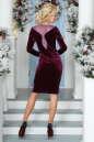 Коктейльное платье футляр сиреневого с черным цвета 2457.26 No3|интернет-магазин vvlen.com