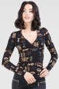 Блуза черного цвета 187.17 No0|интернет-магазин vvlen.com