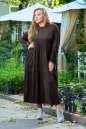 Платье оверсайз коричневого цвета 2403.86 No3|интернет-магазин vvlen.com