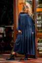 Платье оверсайз морской волны цвета No1|интернет-магазин vvlen.com
