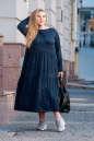Платье оверсайз морской волны цвета No3|интернет-магазин vvlen.com