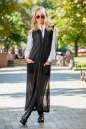 Кардиган стильный черного цвета No0|интернет-магазин vvlen.com