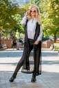 Кардиган стильный черного цвета No1|интернет-магазин vvlen.com