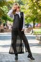 Кардиган стильный черного цвета No2|интернет-магазин vvlen.com