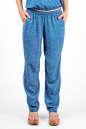 Женские брюки штапельные голубые с белым No1|интернет-магазин vvlen.com