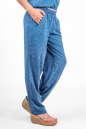 Женские брюки штапельные голубые с белым No2|интернет-магазин vvlen.com