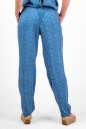 Женские брюки штапельные голубые с белым No3|интернет-магазин vvlen.com