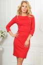 Офисное платье футляр красного цвета 2475.47|интернет-магазин vvlen.com