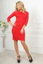 Офисное платье футляр красного цвета No2 интернет-магазин vvlen.com
