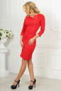 Офисное платье футляр красного цвета 2475.47 No3|интернет-магазин vvlen.com