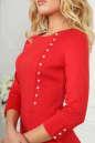 Офисное платье футляр красного цвета 2475.47 No5|интернет-магазин vvlen.com