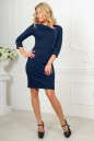 Офисное платье футляр темно-синего цвета 2475.47 No1|интернет-магазин vvlen.com