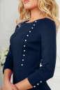 Офисное платье футляр темно-синего цвета No4|интернет-магазин vvlen.com