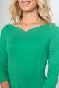 Повседневное платье с расклешённой юбкой зеленого цвета 2483.47 No4|интернет-магазин vvlen.com