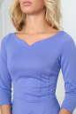 Повседневное платье с расклешённой юбкой сиреневого с черным цвета 2483.47 No5 интернет-магазин vvlen.com