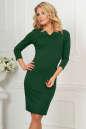 Офисное платье темно-зеленого цвета|интернет-магазин vvlen.com