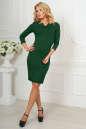 Офисное платье темно-зеленого цвета No1|интернет-магазин vvlen.com