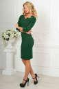 Офисное платье темно-зеленого цвета No2|интернет-магазин vvlen.com