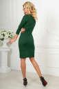 Офисное платье темно-зеленого цвета 2486.47 No3|интернет-магазин vvlen.com