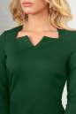 Офисное платье темно-зеленого цвета 2486.47 No4|интернет-магазин vvlen.com