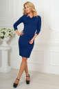 Офисное платье темно-синего цвета 2486.47 No1|интернет-магазин vvlen.com