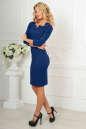 Офисное платье темно-синего цвета 2486.47 No2|интернет-магазин vvlen.com