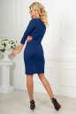 Офисное платье темно-синего цвета 2486.47 No3|интернет-магазин vvlen.com