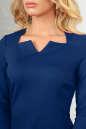 Офисное платье темно-синего цвета 2486.47 No4|интернет-магазин vvlen.com