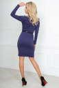 Офисное платье футляр фиолетового цвета No3|интернет-магазин vvlen.com