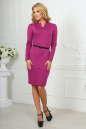 Офисное платье футляр сиреневого цвета No2|интернет-магазин vvlen.com
