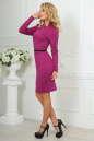 Офисное платье футляр сиреневого цвета No3|интернет-магазин vvlen.com