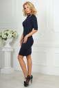 Офисное платье темно-синего цвета 1841-1.47 No2|интернет-магазин vvlen.com