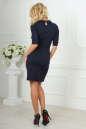 Офисное платье темно-синего цвета 1841-1.47 No3|интернет-магазин vvlen.com
