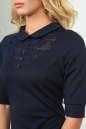 Офисное платье темно-синего цвета 1841-1.47 No4|интернет-магазин vvlen.com