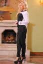 Женский комбинезон брючный черного с белым цвета 2399.41 No2|интернет-магазин vvlen.com