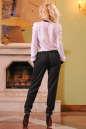 Женский комбинезон брючный черного с белым цвета 2399.41 No3|интернет-магазин vvlen.com