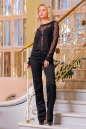 Блуза черного цвета  2396.12 No0|интернет-магазин vvlen.com