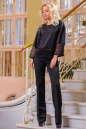 Блуза черного цвета  2434.47 No0|интернет-магазин vvlen.com