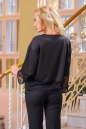 Блуза черного цвета  2434.47 No1|интернет-магазин vvlen.com