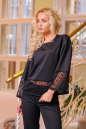Блуза черного цвета  2434.47 No2|интернет-магазин vvlen.com
