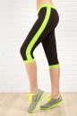 Бриджи для фитнеса черного с зеленым цвета 2313.67 No0|интернет-магазин vvlen.com