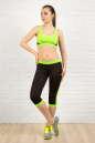 Бриджи для фитнеса черного с зеленым цвета 2313.67 No4|интернет-магазин vvlen.com