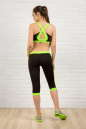 Бриджи для фитнеса черного с зеленым цвета 2313.67 No5|интернет-магазин vvlen.com