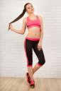 Лосины для фитнеса черного с розовым цвета 2313.67 No4|интернет-магазин vvlen.com